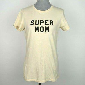 Super Mom Short Sleeve Beige T Shirt
